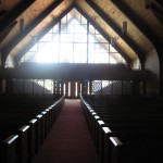 Morning light flooding the sanctuary.