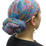 A tichel is a scarf Jewish women use to cover their hair.
