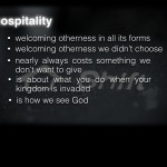 The SHIFT from Hostility to Hospitality Can Change the World