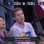 Why was Brownback Booed at KU v. WSU Game?