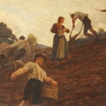 Hubert_von_Herkomer_Farm_workers_tilling_and_sowing_a_hillside