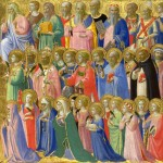 "Portion of Fra Angelico's ""The Forerunners of Christ with Saints and Martyrs"" (1424)"