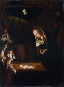 Birth of Jesus; Geertgen tot Sint Jans; c. 1490; oil on oak; National Gallery London