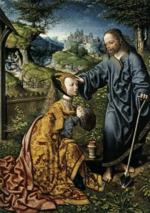 Jacob Cornelisz van Oostsanen; Christ Appearing to Mary Magdalen as a Gardener; 1507, oil on oak; Staatliche Museen, Kassel