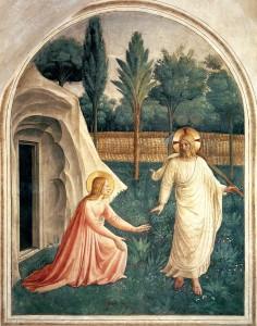"""Fra Angelico; """"Noli me tangere""""; 1442; fresco; Convento di San Marco, Florence"""