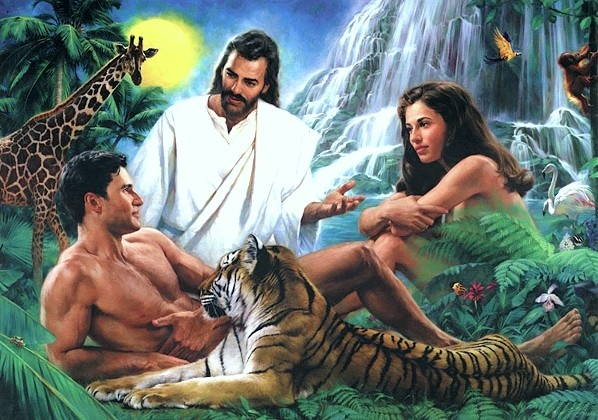 When you have Jesus alongside Adam, Even, a tiger and a giraffe, you know it isn't art.
