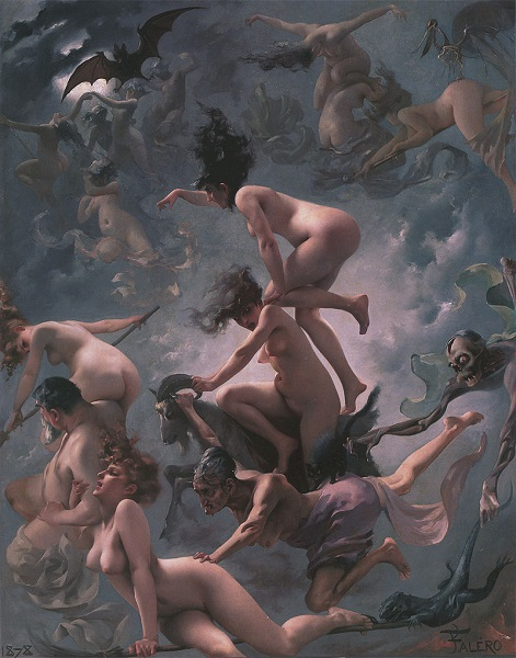 Witches on the Sabbath. 1878. Luis Ricardo Falero. Wikipedia Public Image.