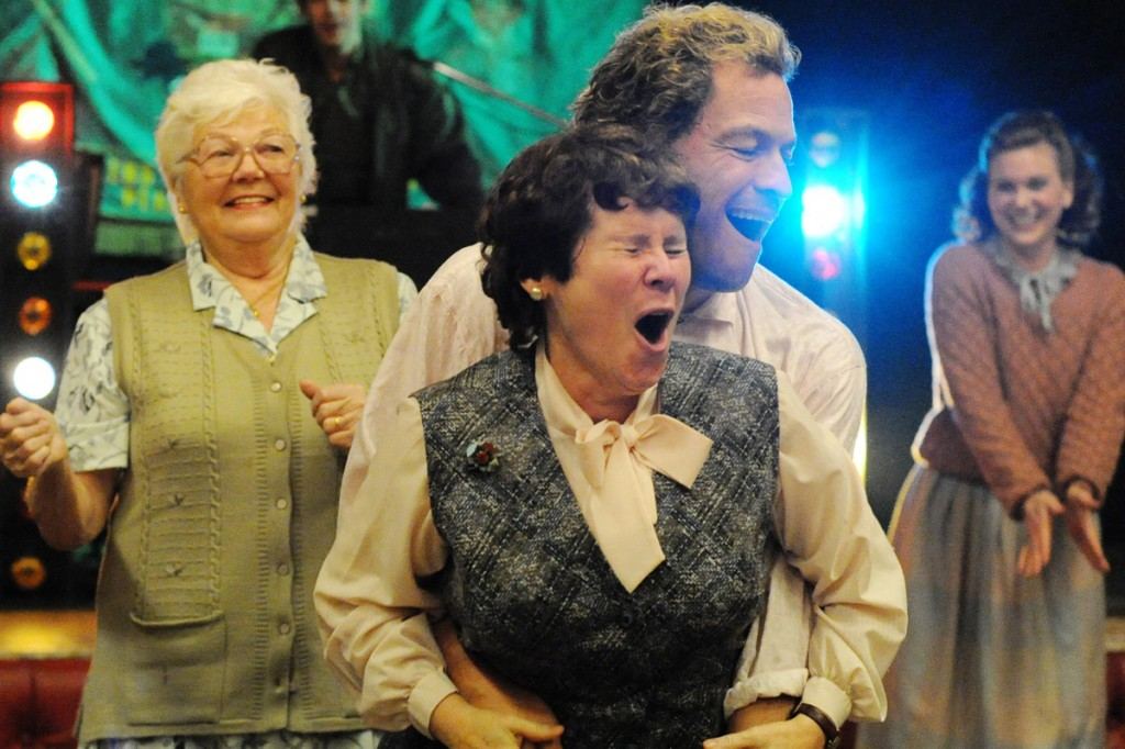 Progressive Pepper Pot: Imelda Staunton and Dominic West in one of the obligatory dance scenes.