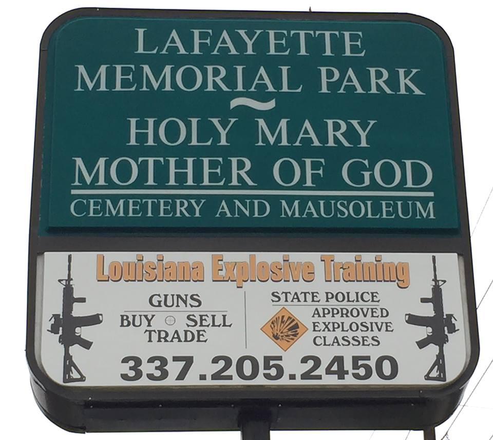 """""""You plug 'em, we plant 'em."""" Actual sign near author's home in Louisiana."""