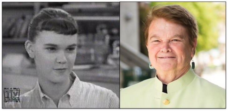 Always the smartest kid in the room: Sheila Kuehl The Many Loves of Dobie Gillis (L) and today (R).