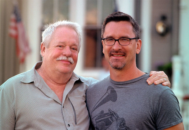 Logical Family: Armistead Maupin and his husband Christopher Turner.