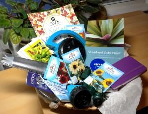 gardening gift basket prize