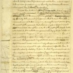 "Jefferson's ""original rough draft"" of the Declaration of Independence. Note: Jefferson was born approximately 13 years after Job's enslavement in America began."