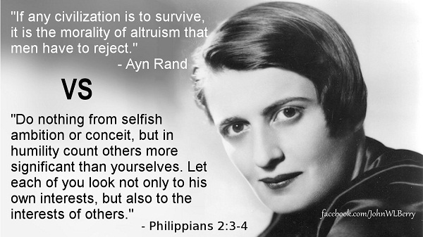 Ayn Rand vs. Jesus Christ: FIGHT!