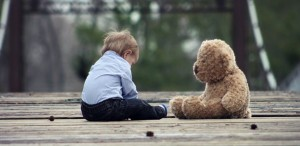 Child With Teddy Bear.