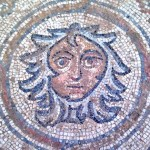 A sixth-century Byzantine mosaic near Raqqa on the Euphrates which was blown up by the Islamic State of Iraq and the Levant, opposed to the depiction of the human form, in January.