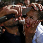 A Shia Muslim in Delhi has his child gashed with a knife for Ashura