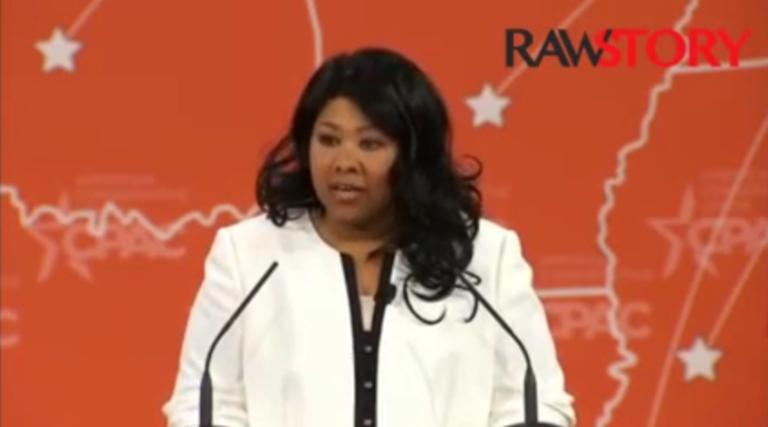 Jamila Bey, American Atheists board member, speaks at CPAC 2015.