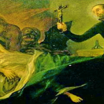 Goya's painting of a Catholic priest performing an exorcism (Wikipedia)