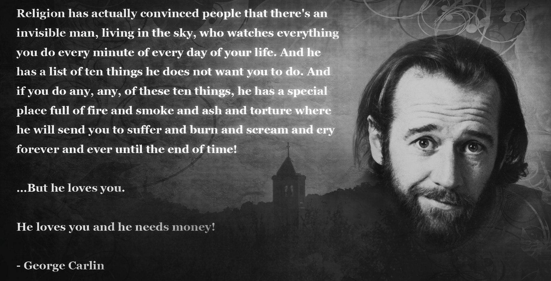 George Carlin Quote On The Ten Commandments: Celebrating George Carlin: A Collection Of Memes And