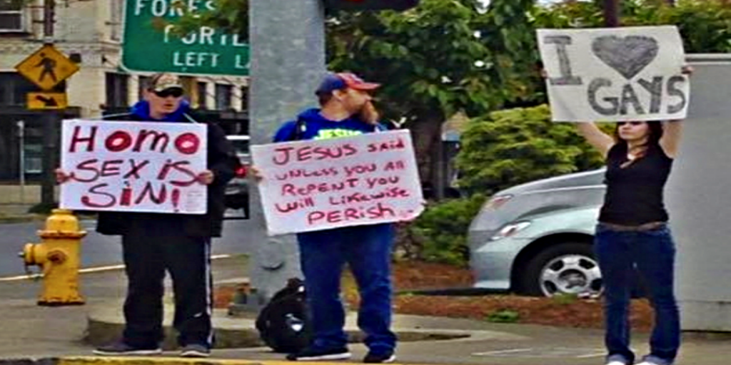 Oregon Teen Challenges Anti Gay Christian Protesters