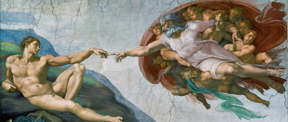 The Creation of Adam (Image via Wikimedia)