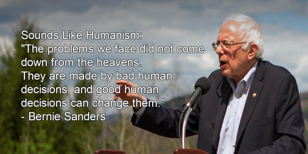 Bernie Sanders Humanist