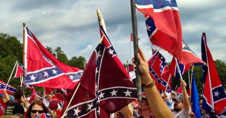 White Supremacists Rally for God and Confederate Flag at Stone Mountain