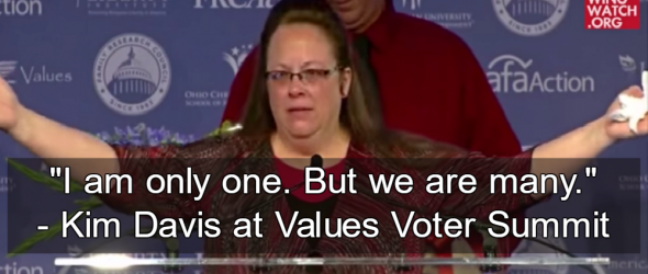 GOP Honors Kim Davis At Values Voter Summit
