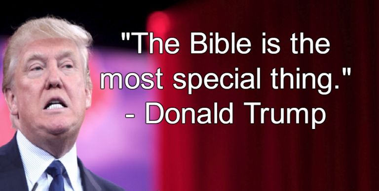 Trump Quotes: Donald Trump Makes Up Bogus Bible Quote To Impress