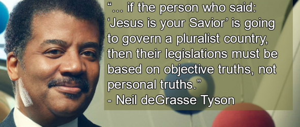 Neil deGrasse Tyson: Christian Theocracy Threatens Democracy