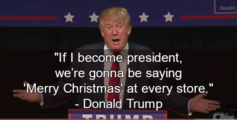 merry christmas from donald trump