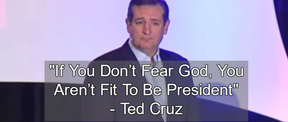 Ted Cruz Says Atheists Aren't Fit To Be President