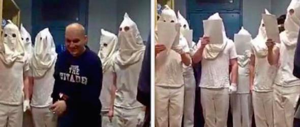 Citadel Cadets Celebrate Christmas In KKK Hoods