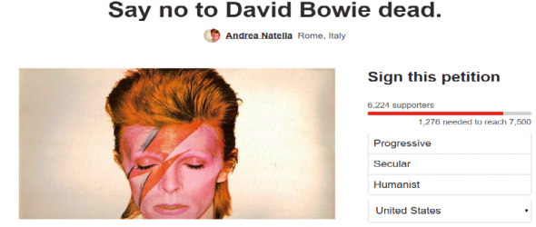 Petition Asks God To Return David Bowie From The Dead