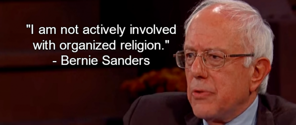 Bernie Sanders Rejects Organized Religion, Defends Humanist Values
