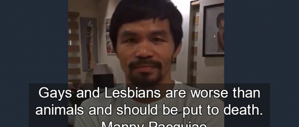 Nike Drops Manny Pacquiao For Hating Gay People