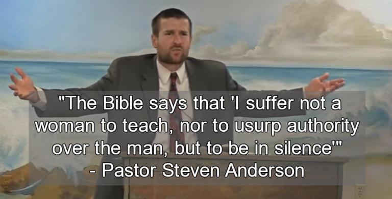 Arizona Pastor Explains Why Women Should Have No Rights