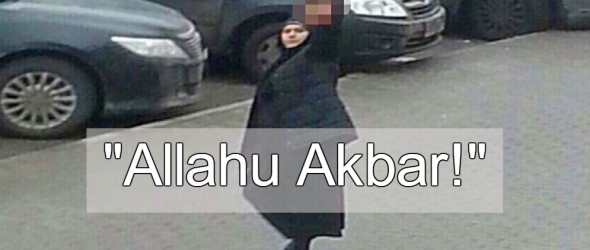 Watch: Burka-Clad Woman Waves Severed Child's Head While Screaming 'Allahu Akbar'