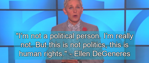 Ellen DeGeneres Slams Mississippi's 'Religious Freedom' Law