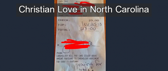 Gay Waitress Receives Bible Verse 'Tip' Calling For Her Death