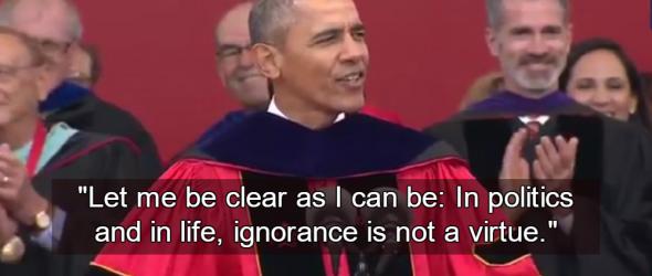 Obama Mocks Trump's Anti-Intellectualism