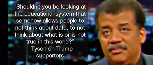 Neil DeGrasse Tyson: Blame Education System For Trump