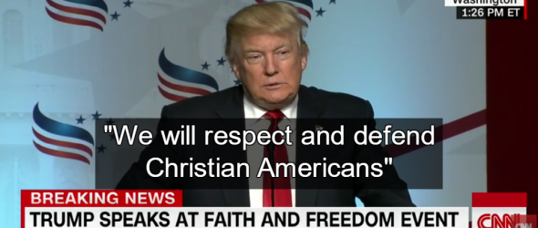 Trump Promises Christian Theocracy at Faith and Freedom Conference