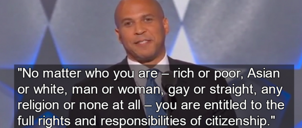 Cory Booker Stands Up For Atheists At DNC