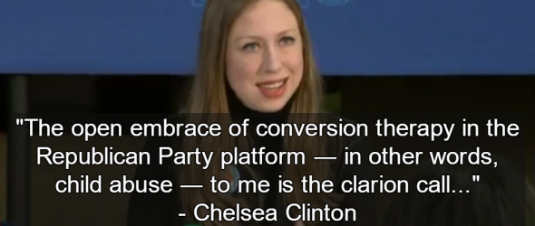 Chelsea Clinton Calls Gay Conversion Therapy 'Child Abuse'