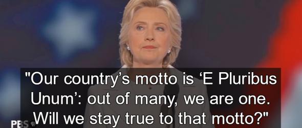 Clinton Replaces 'In God We Trust' With 'E Pluribus Unum'