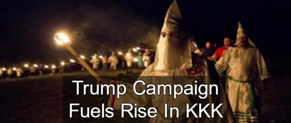 Report: Trump Campaign Fuels Rise In KKK