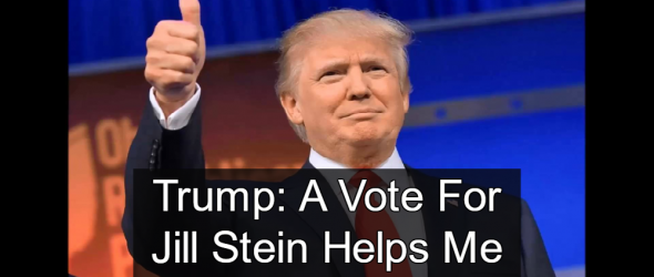 Trump: A Vote For Jill Stein Helps Me