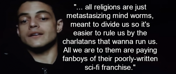 Watch: Mr. Robot Nails Religion